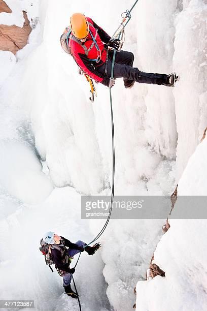 Ice Climbing Couple