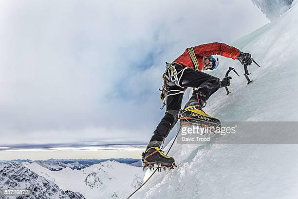 Ice climbing in the Austrian Alps