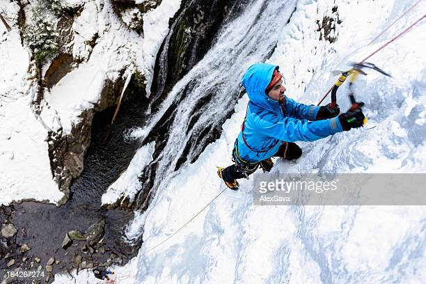 escalada sobre hielo - vail colorado fotografías e imágenes de stock