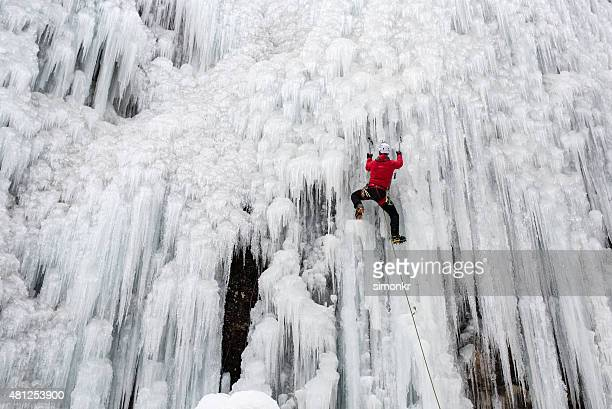 ice climbing - extreme sports stock pictures, royalty-free photos & images