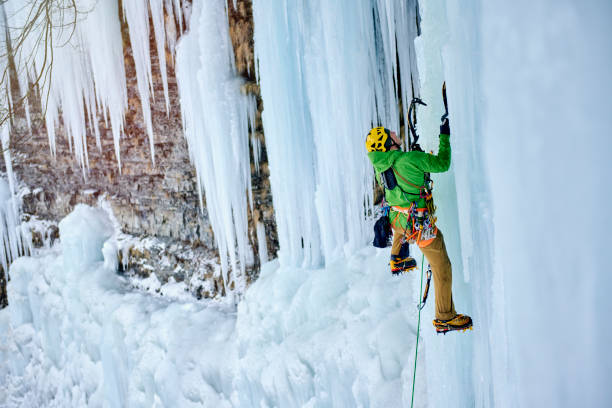Ice Climbing Salmon River Falls, New York