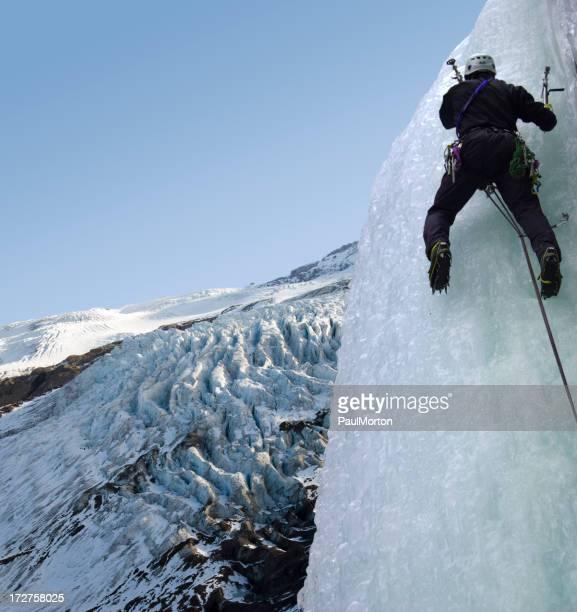 Ice Climbing While Mountaineering