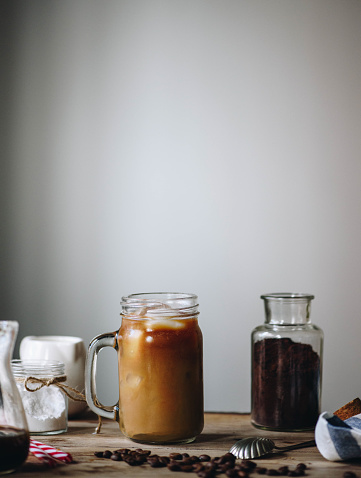 Ice coffee with cream - gettyimageskorea