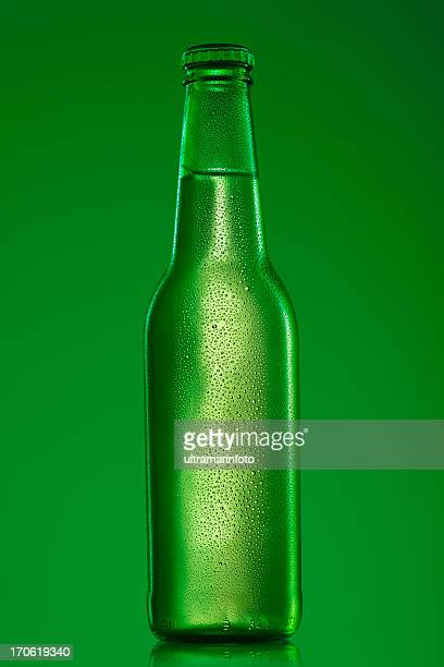 Ice cold bottle of beer