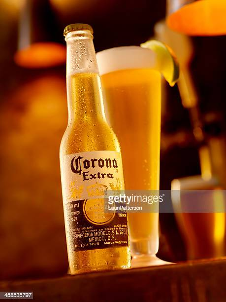 ice cold bottle of corona beer - mexican beer stock pictures, royalty-free photos & images