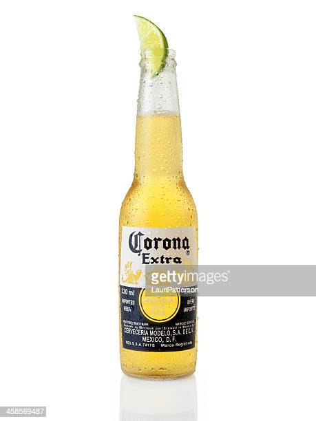 ice cold bottle of corona beer - corona stock pictures, royalty-free photos & images