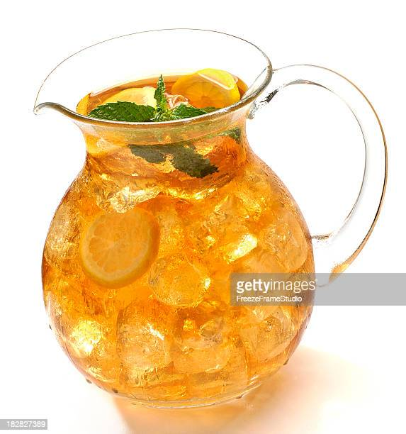 Ice cold pitcher of iced tea