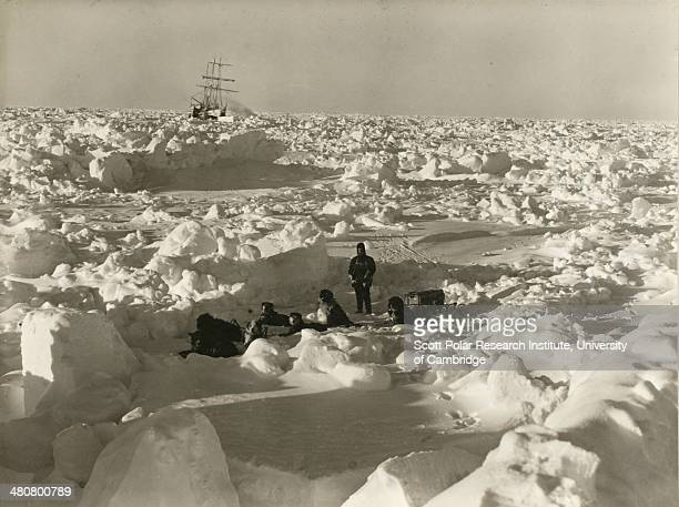 Ice conditions in August 1915 during the Imperial TransAntarctic Expedition 191417 led by Ernest Shackleton The 'Endurance' is in the background