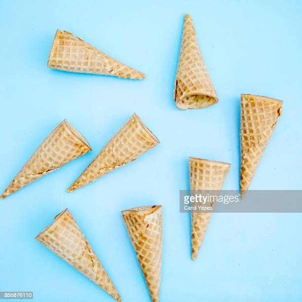 ice cones in blue background