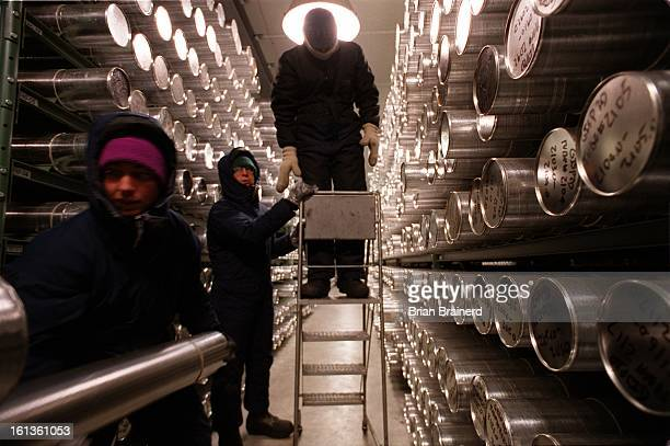 Ice core samples are stored at 36 C in the National Ice Core Labortory at the Denver Federal Center Part of the US Geological Survey the lab stores...