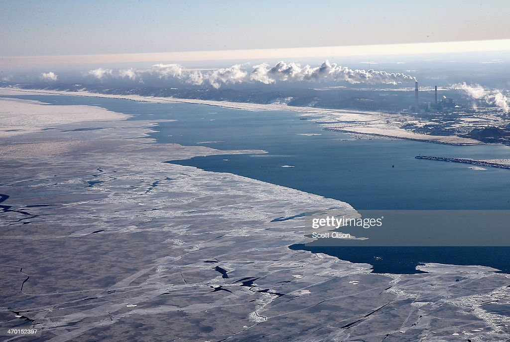 As Brutally Cold Winter Drags On, 80 Percent Of Lake Michigan Frozen : News Photo
