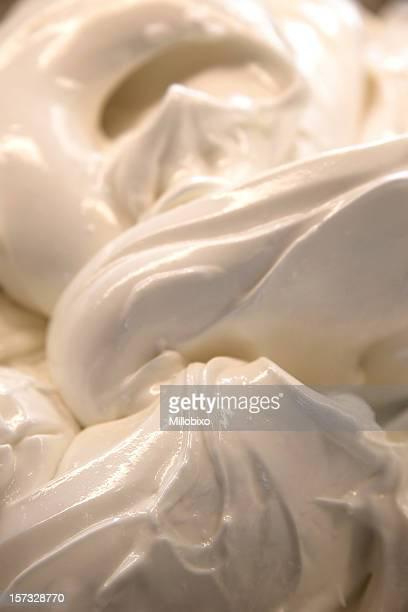 ice panna base - gelato italiano foto e immagini stock