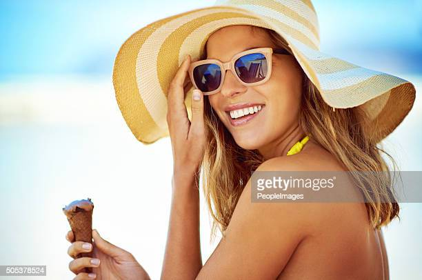 ice cream is the perfect summer companion - sunglasses stock pictures, royalty-free photos & images