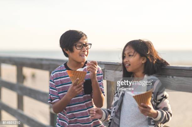 Ice cream on the boardwalk!