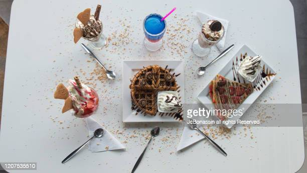 ice cream - jcbonassin stock pictures, royalty-free photos & images