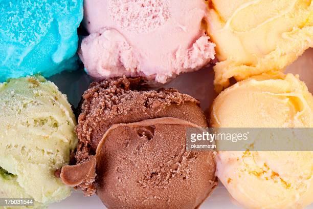ice gelato - gelato italiano foto e immagini stock