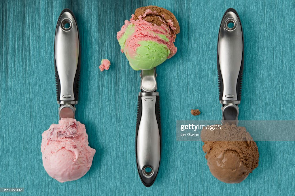 Ice Cream Scoopers : Stock Photo