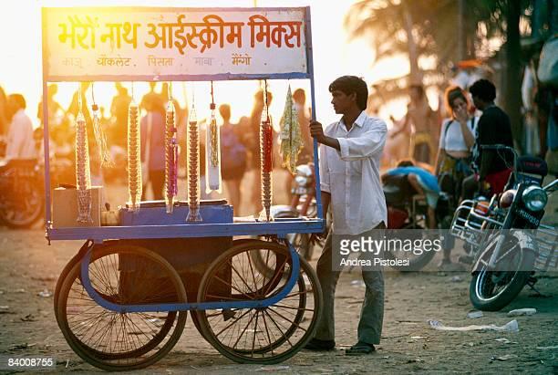 Ice cream seller in Goa