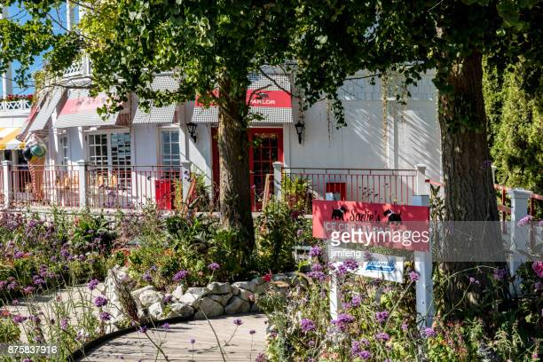 ice cream store in grand hotel - mackinac island stock pictures, royalty-free photos & images