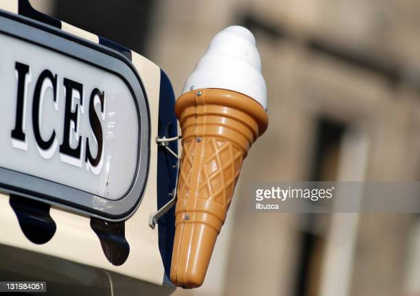 Ice cream van sign