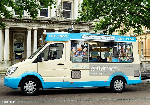 Ice cream van with large seagull
