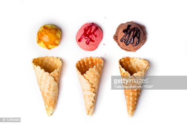 Ice cream with waffle cone
