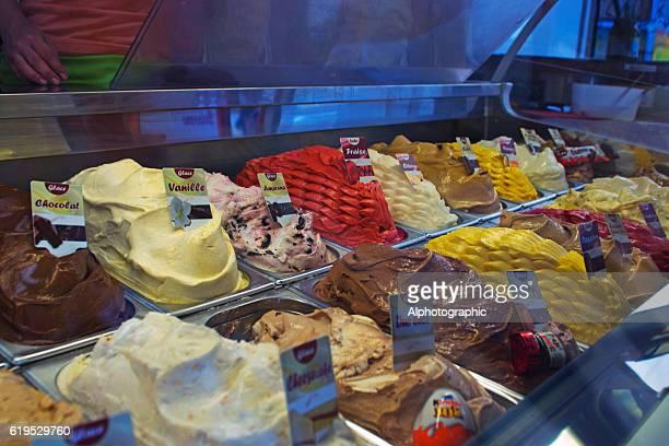 Glaces et de yaourts glacés