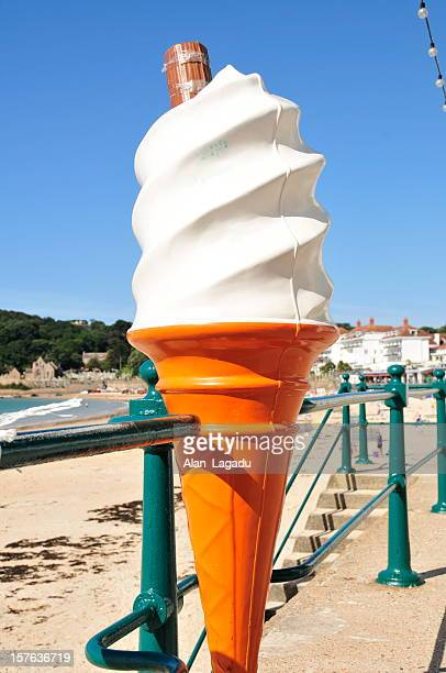 ice cream,st.brelade,jersey. - ice cream parlour stock pictures, royalty-free photos & images