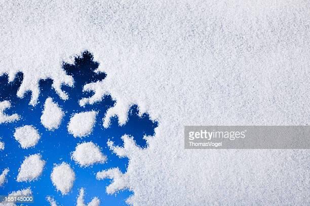 Ice Crystal auf gefrorenen Fenster