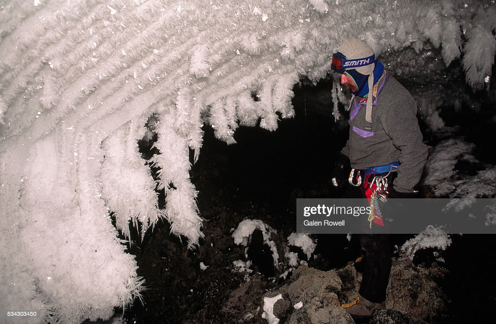 Ice Crystals Inside Ice Cave : Stock Photo