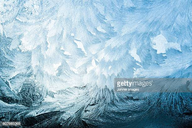 ice crystals on window - ice stock pictures, royalty-free photos & images