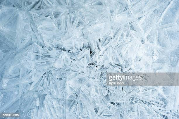 ice crystals - frozen stock pictures, royalty-free photos & images