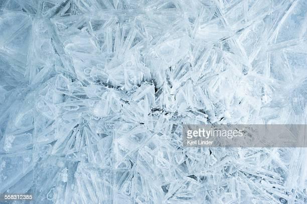 ice crystals - frozen foto e immagini stock