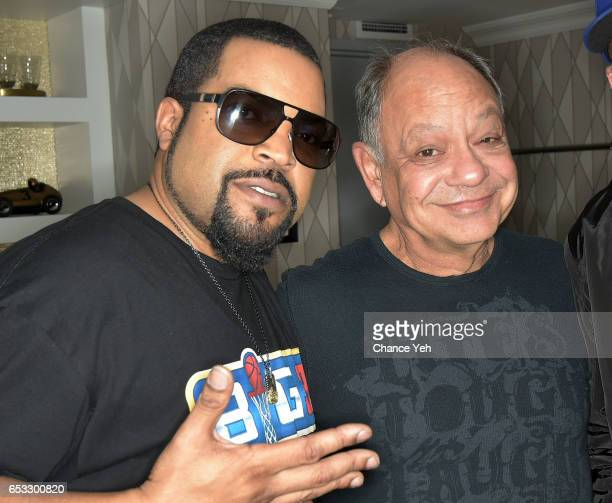 Ice Cube and Cheech Marin attend Build series to discuss 'Hip Hop Squares' at Build Studio on March 14 2017 in New York City