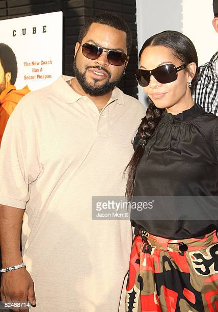 Ice Cube and family arrive to the Los Angeles premiere of Weinstein Company's The Longshots on August 20 2008 in Westwood California