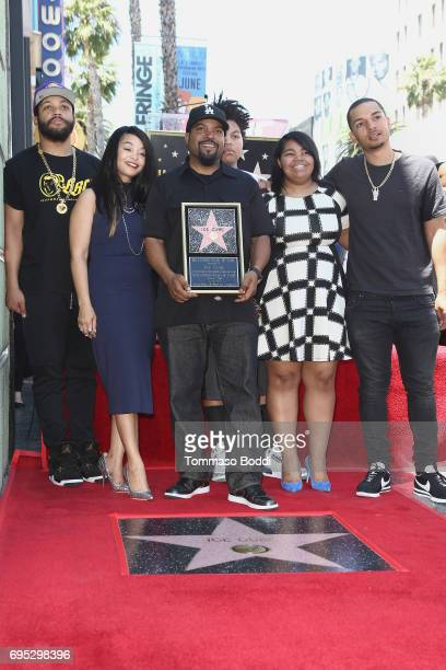 Ice Cube and family attend a Ceremony Honoring Ice Cube With Star On The Hollywood Walk Of Fame on June 12 2017 in Hollywood California