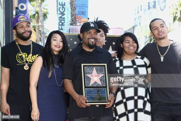 Ice Cube and family attend a Ceremony Honoring Ice Cube With Star On The Hollywood Walk Of Fame on June 12, 2017 in Hollywood, California.