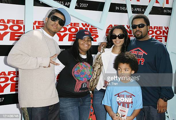 Ice Cube and his family during Are We Done Yet Los Angeles Premiere Arrivals at Manns Village Theater in Westwood California United States