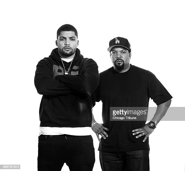 Ice Cube and his son O'Shea Jackson Jr. In Chicago on Tuesday, July 21, 2015.