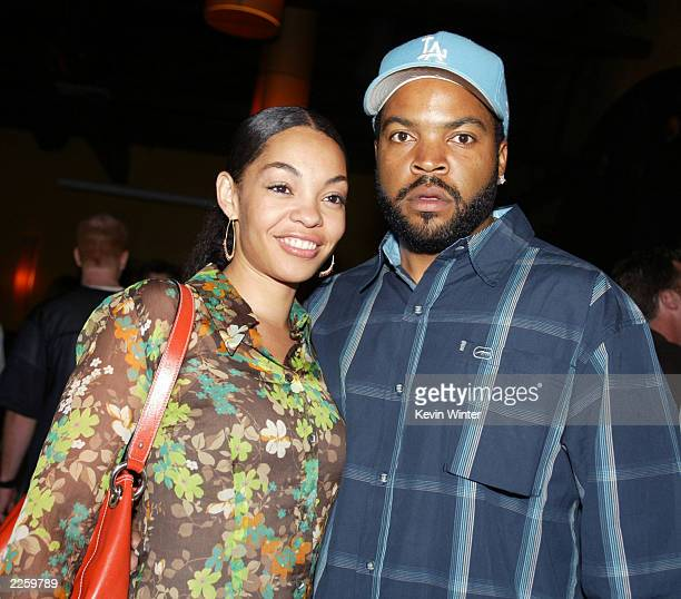 Ice Cube and his wife Kimberly at the premiere of Martin Lawrence Live Runteldat at the ArcLight Cinemas in Hollywood Ca Monday July 29 2002 Photo by...