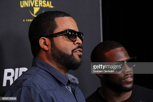 Ice Cube and Kevin Hart arrive ahead of the Ride Along 2 Australian Premiere at Hoyts Melbourne Central on February 10, 2016 in Melbourne, Australia.