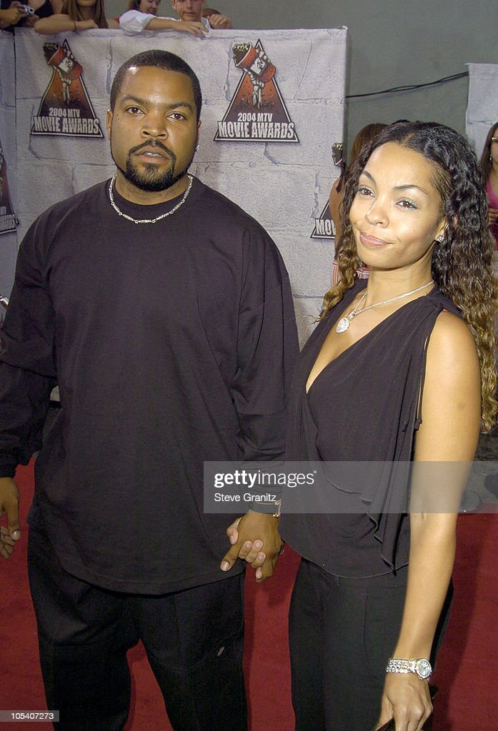 Ice Cube and Kim Jackson during MTV Movie Awards 2004 - Arrivals at Sony Pictures Studios in Culver City, California, United States.