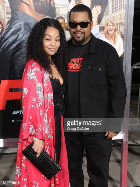 Ice Cube and Kimberly Woodruff arrive at the premiere of Warner Bros Pictures' Fist Fight at Regency Village Theatre on February 13 2017 in Westwood...
