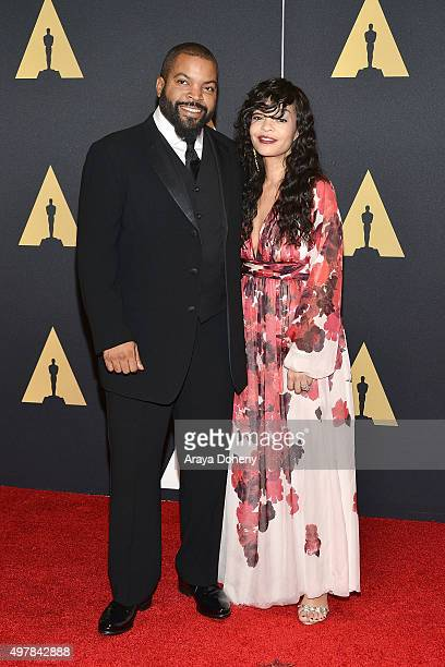 Ice Cube and Kimberly Woodruff attend the Academy of Motion Picture Arts and Sciences' 7th Annual Governors Awards at The Ray Dolby Ballroom at...
