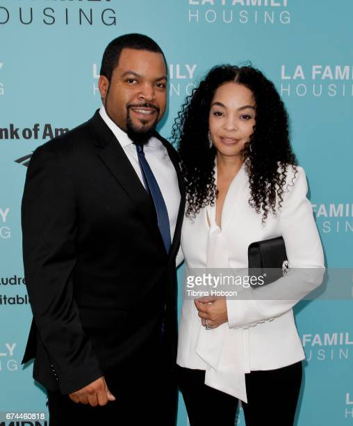 Ice Cube and Kimberly Woodruff attend the LA Family Housing 2017 Awards at The Lot on April 27 2017 in West Hollywood California