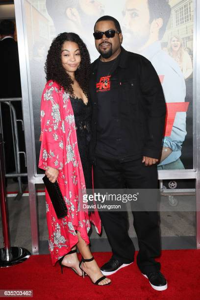 Ice Cube and Kimberly Woodruff attend the premiere of Warner Bros Pictures' 'Fist Fight' at Regency Village Theatre on February 13 2017 in Westwood...