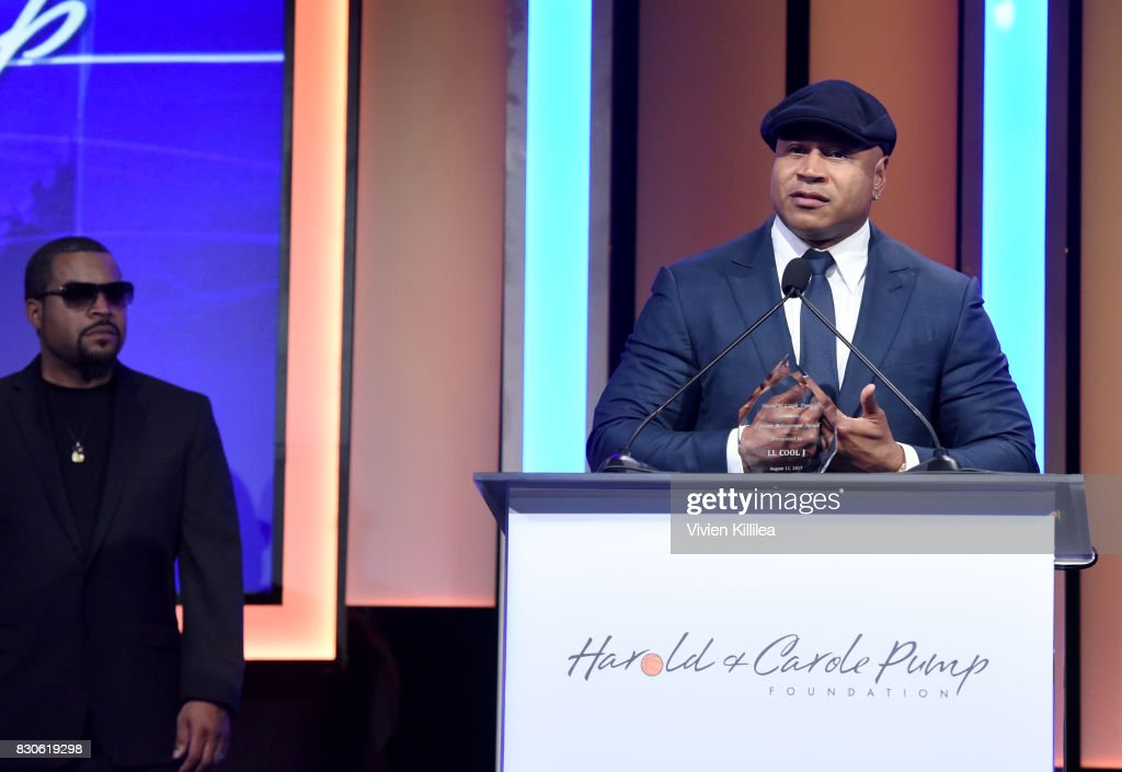 Ice Cube and LL Cool J attend the 17th Annual Harold & Carole Pump Foundation Gala at The Beverly Hilton Hotel on August 11, 2017 in Beverly Hills, California.