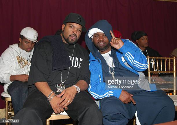 Ice Cube and Raekwon of WuTang Clan during 2006 VH1 Hip Hop Honors Backstage and Audience at Hammerstein Ballroom in New York City New York United...