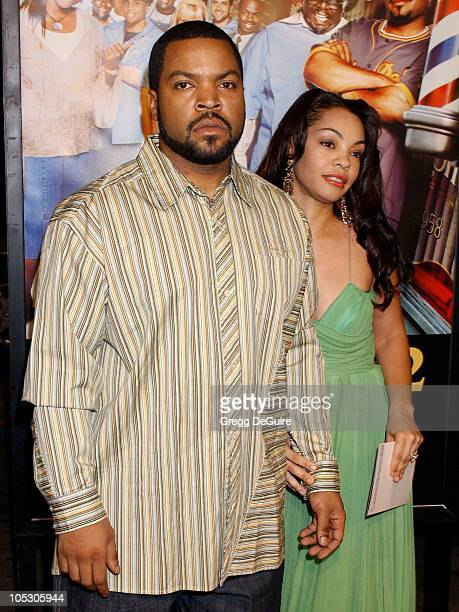 Ice Cube and wife Kim during Barbershop 2 Back in Business Premiere at Grauman's Chinese Theatre in Hollywood California United States