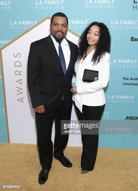 Ice Cube and wife Kim jackson attend the LA Family Housing 2017 Awards at The Lot on April 27 2017 in West Hollywood California